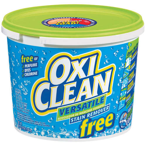 OxiClean can be used to remove stubborn, grayed-out wood surfaces. Again, follow the manufacturer's instructions.