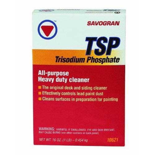 TSP is a good general cleaner. Follow the manufacturer's instructions.