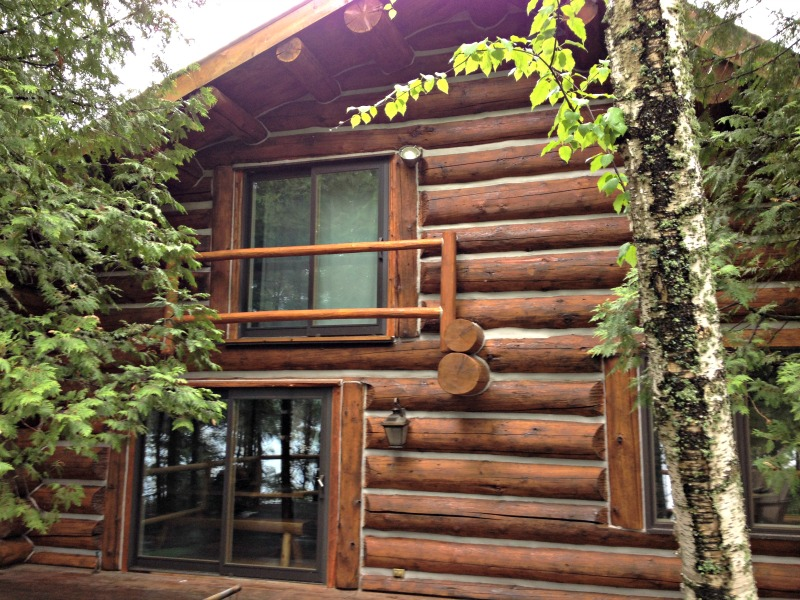 Log cabin restoration in boulder junction wi edmunds and company