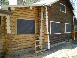 Log home cob blasting: It's important to pick the right blasting media for the job