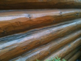 Log Home Refinishing – Log rot resulting from film-forming finishes