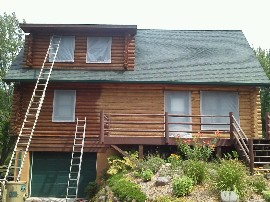 Refinishing Log Home — Full service or à la carte… you choose.