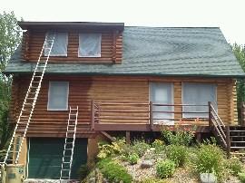Refinishing Log Home — Full service or à la carte… you choose.