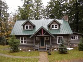 Brown Log Home