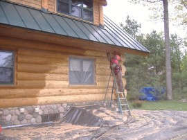 Blasting Log Homes – Is it right for your log cabin?