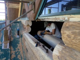 Log home restoration – Leaking around windows can lead to significant rot