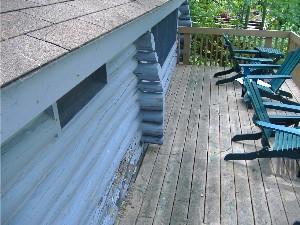 Log home maintenance – Gutters