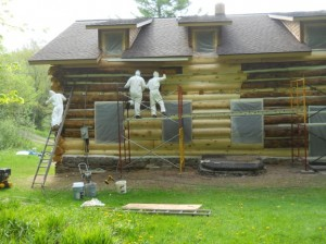 restoration of log cabin