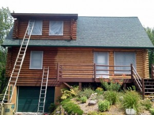 log home sandblasting and cob blasting