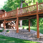 Replacing Posts and Railings in Alexandria, Minnesota