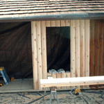 Replacing Vertical Logs in Balsam Lake, Wisconsin