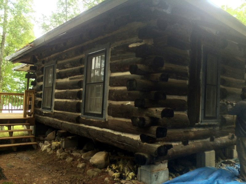 Log home repair when mortar chinking needs to go for Chinking log cabin