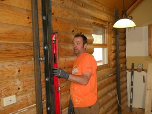 Log Home Wall Needed Straightening