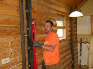 Log Home Wall Needed Straightening