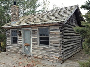Old log cabin on Madeline Island