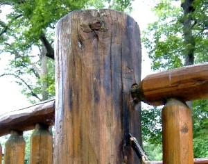Log Cabin Repair – Protecting Log Posts