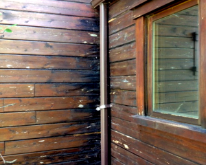 Log Home Maintenance-Gutters Prevent Rot