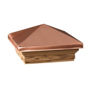 Copper caps for log posts
