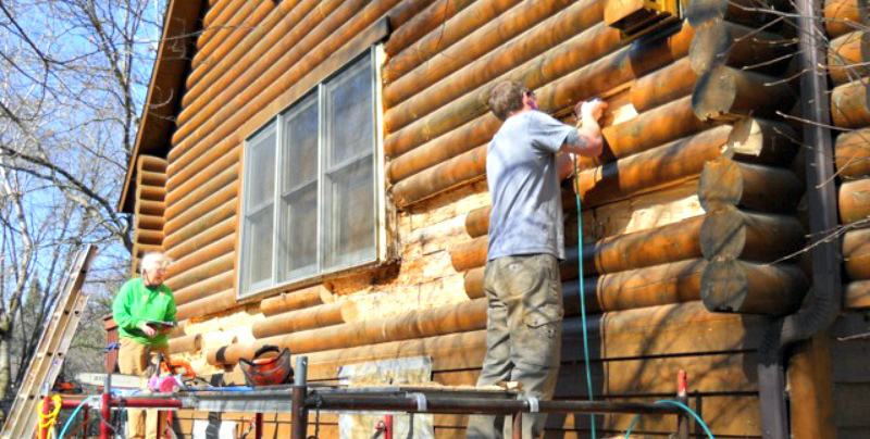 Twin Cities Home with Rotten Milled Logs