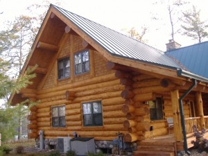 Restored log home exterior