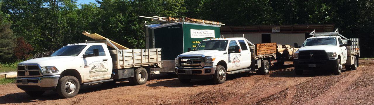 Edmunds and co log trucks