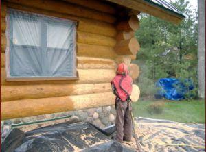 Blasting logs in progress