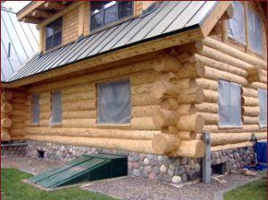 Fully blasted log home