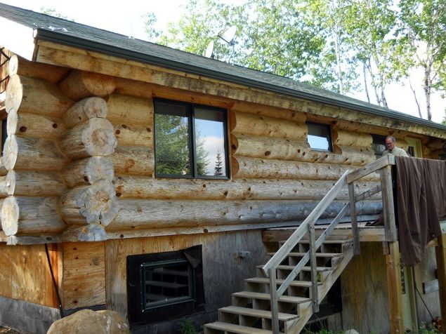 Cleaned log home