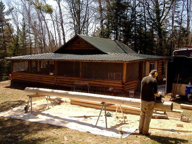 Cedar log preparation