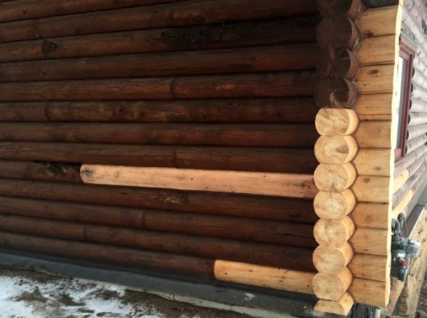 Staining replacement logs