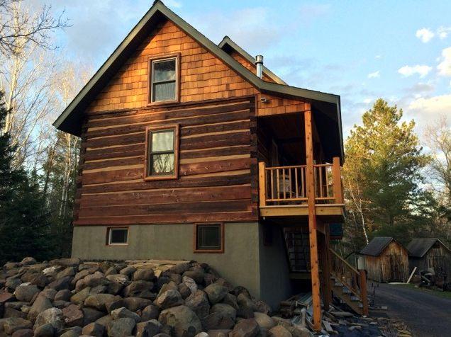 Transformed log home