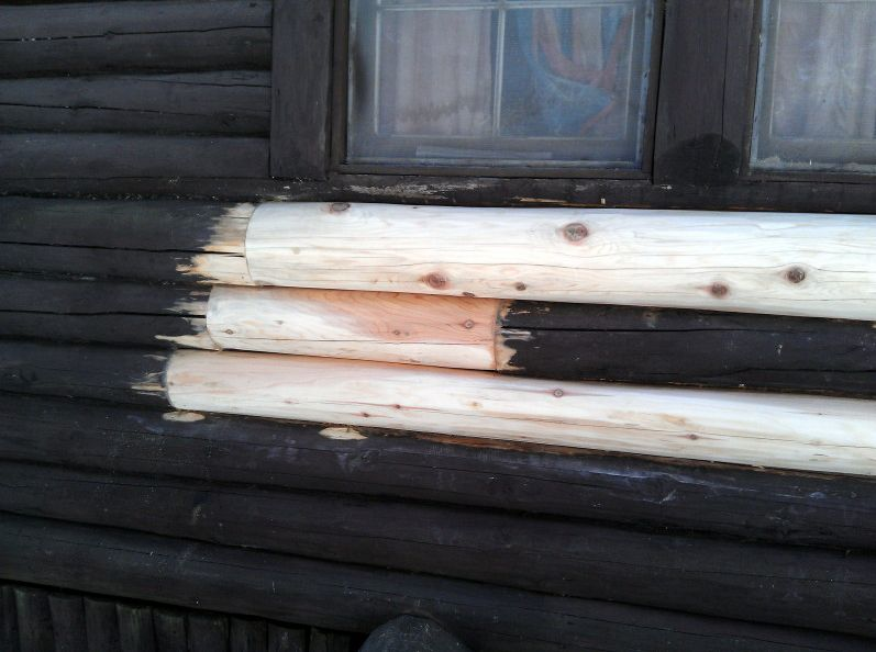Replacement logs installed