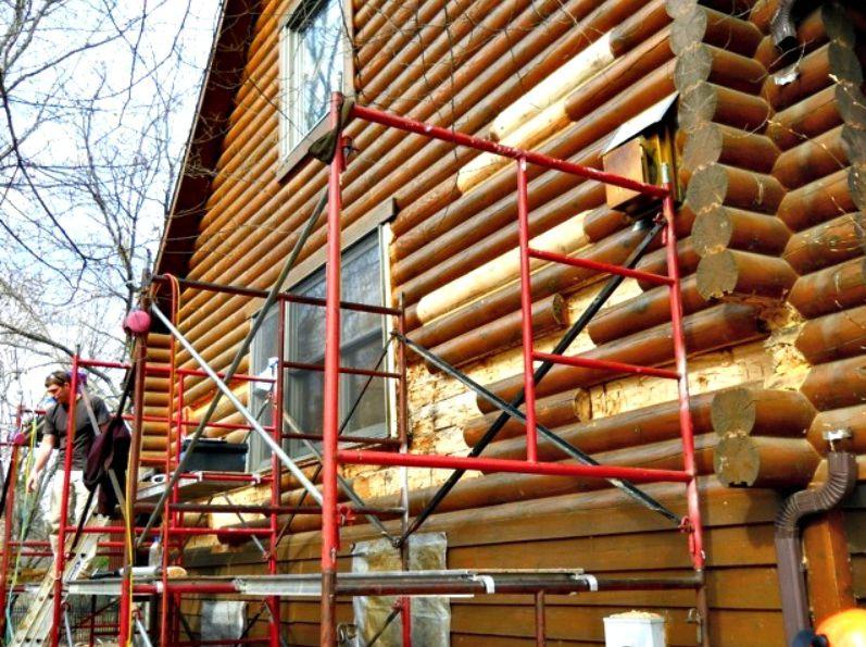 Progress removing rotten logs