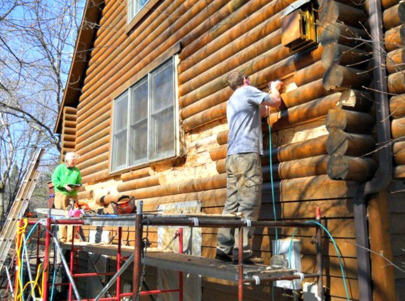 Installing half logs