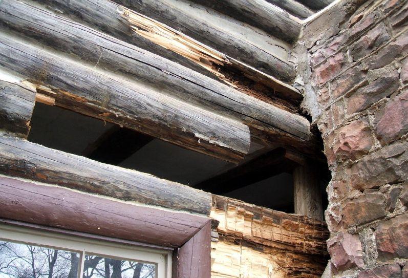 Chimney log rot