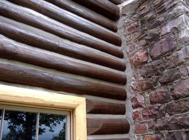 Logs replaced around chimney