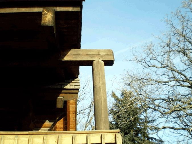 Log overextending from roofline