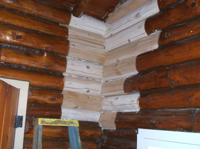Replaced interior logs