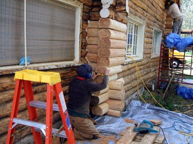 Rebuilding log corner
