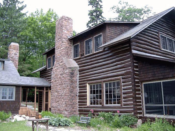 Large log home restoration