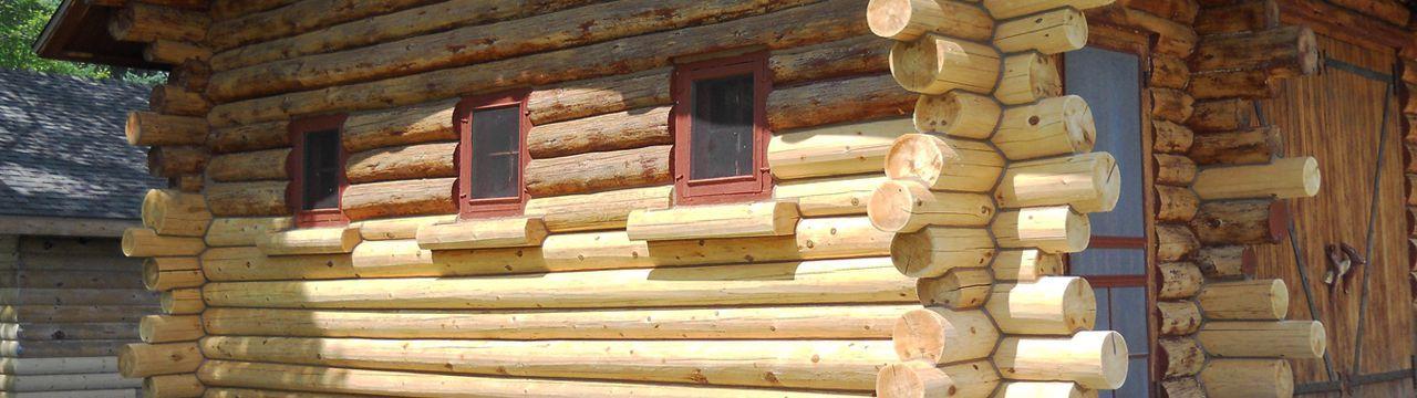 Half blasted log home